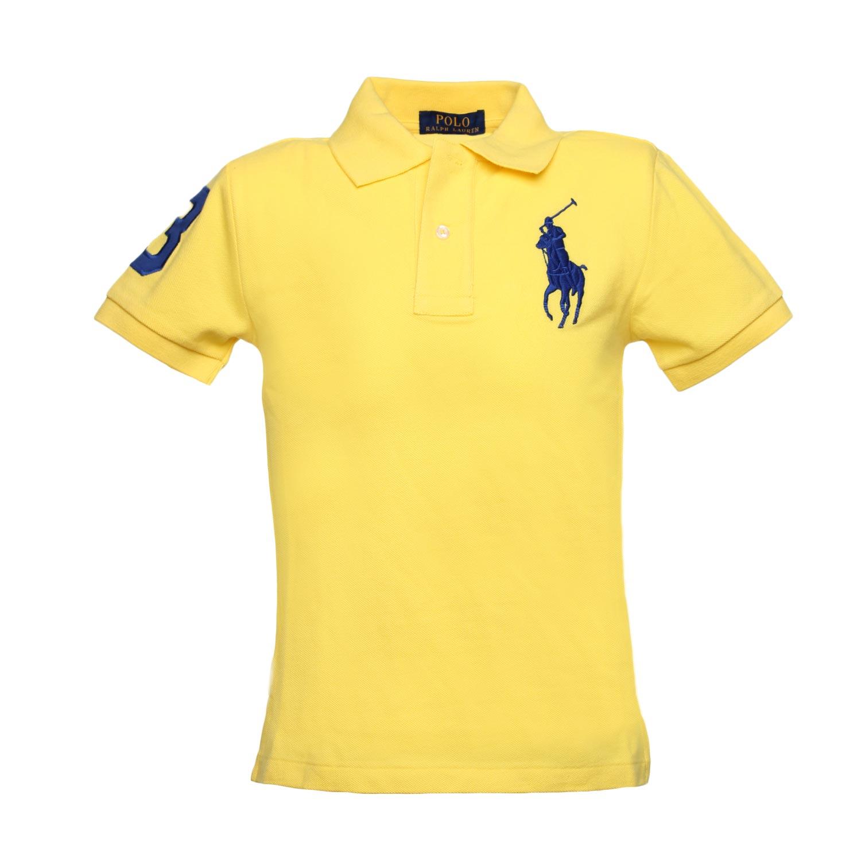 big sale 852f5 8e0c7 Big Pony Cotton Polo Boy Yellow