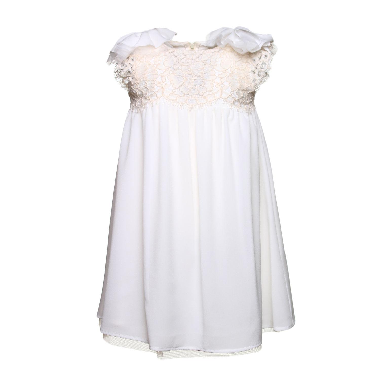 5a53c8294458f0 Pinko - Abito Impero Bianco Bambina - annameglio.com shop online