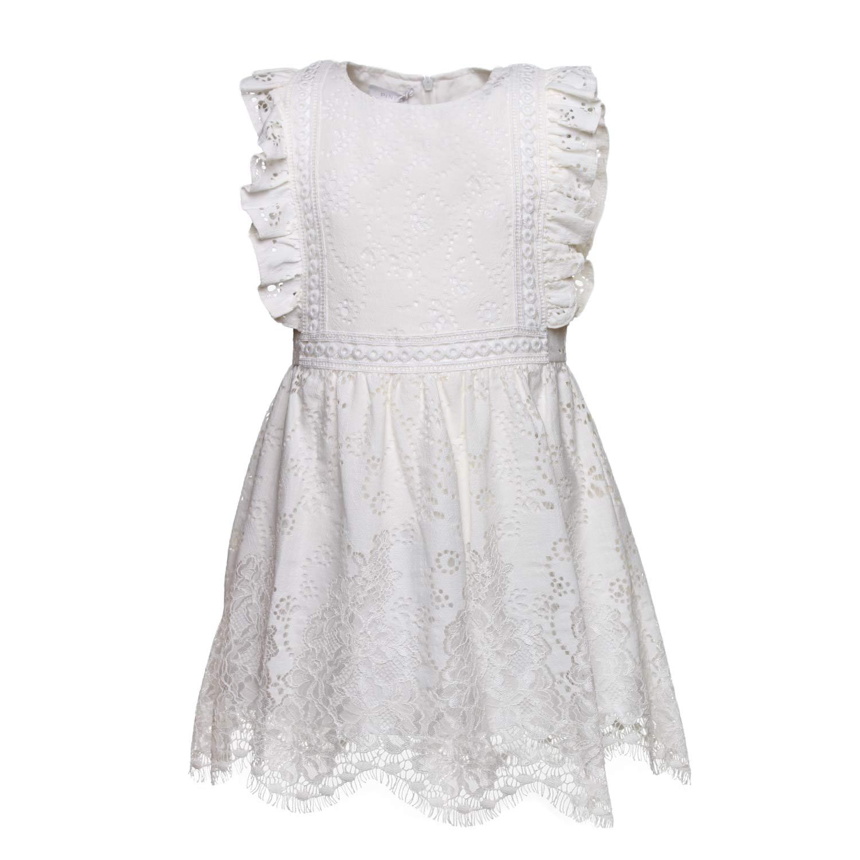 955f335a38e2 Pinko - Abito Bianco In Pizzo Bambina - annameglio.com shop online