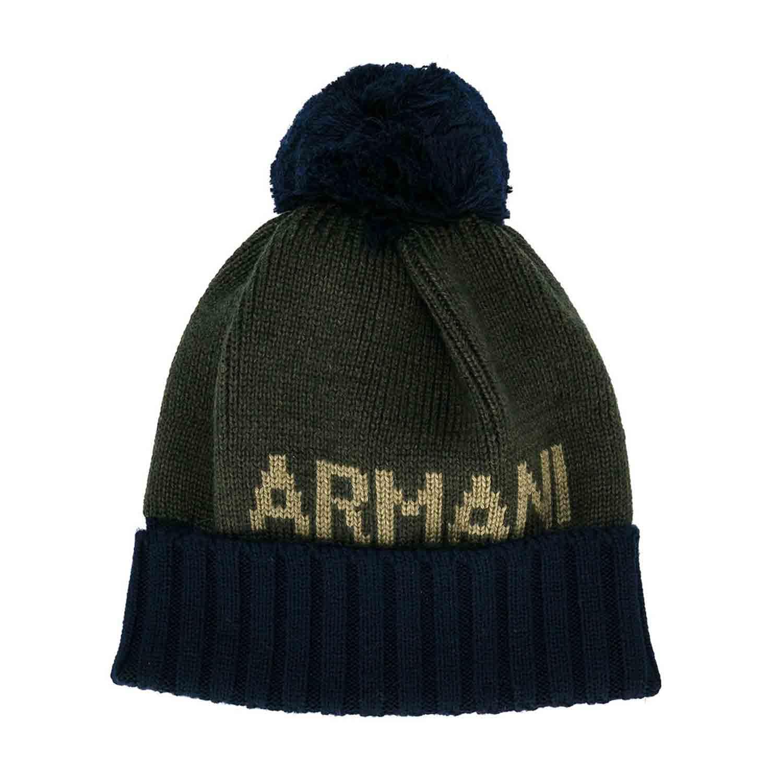 Armani Junior - Cappello Verde E Blu - annameglio.com shop online dfffccd39afa