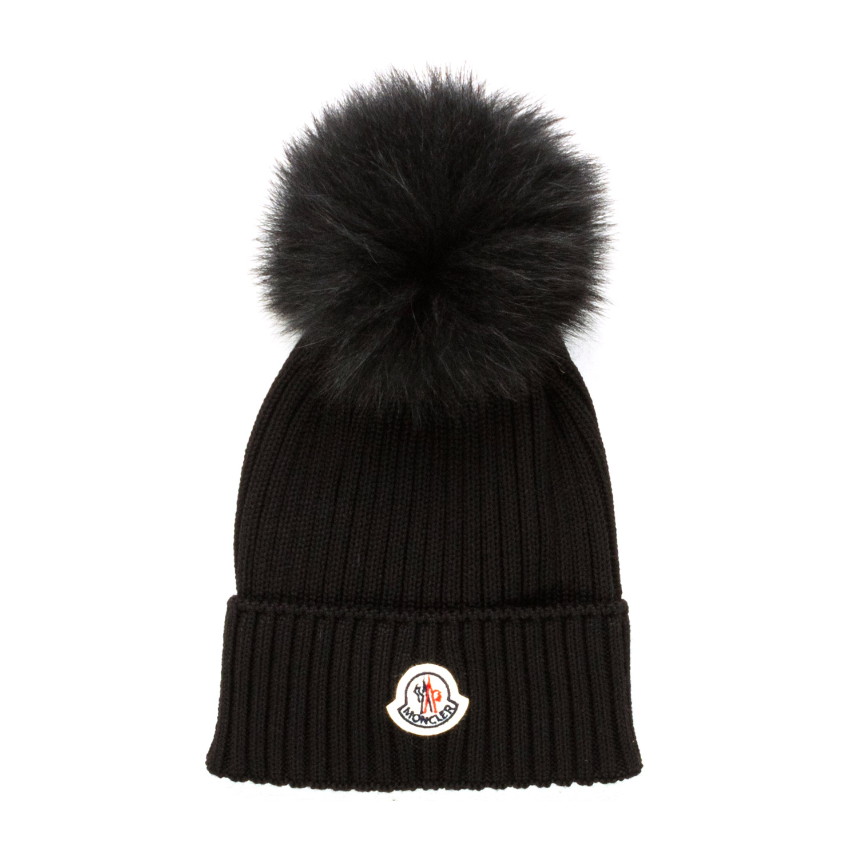 65fcd887b Moncler - Girl Black Bobble Hat - annameglio.com shop online