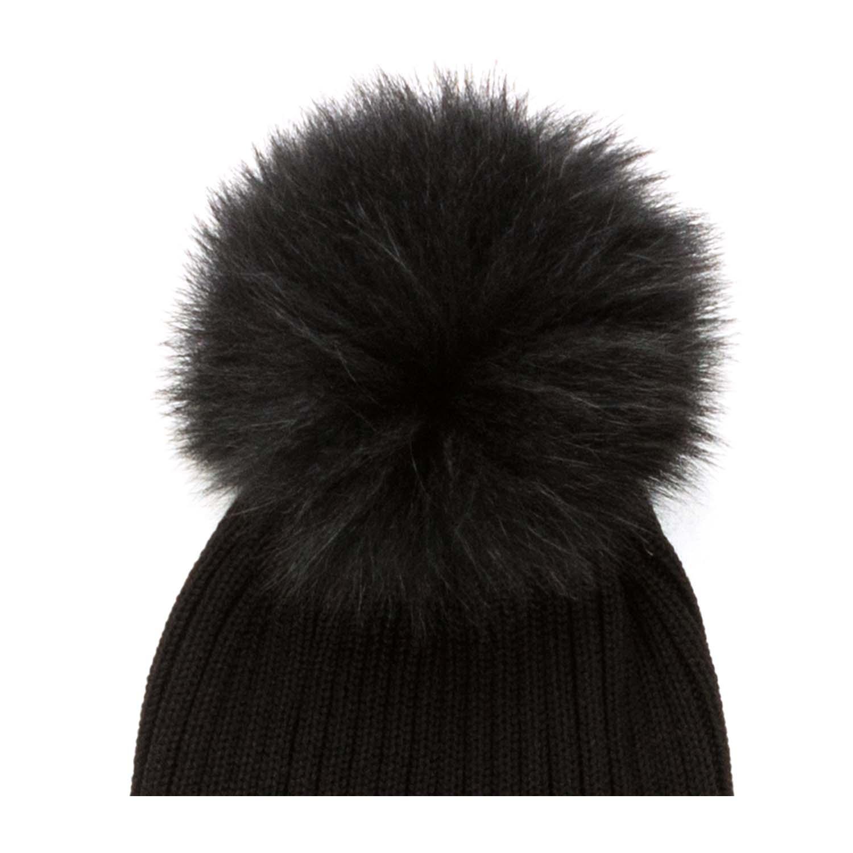 6dd5ee90a2a Moncler - Girl Black Bobble Hat - annameglio.com shop online