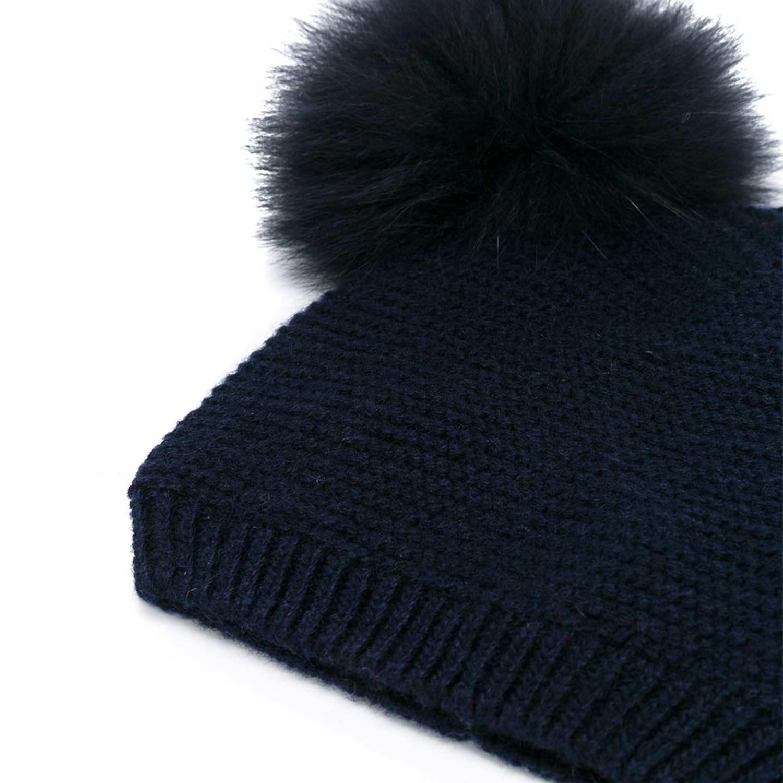 Monnalisa - Cappello Bimba Pon Pon Nero - annameglio.com shop online eb15fe9024c0