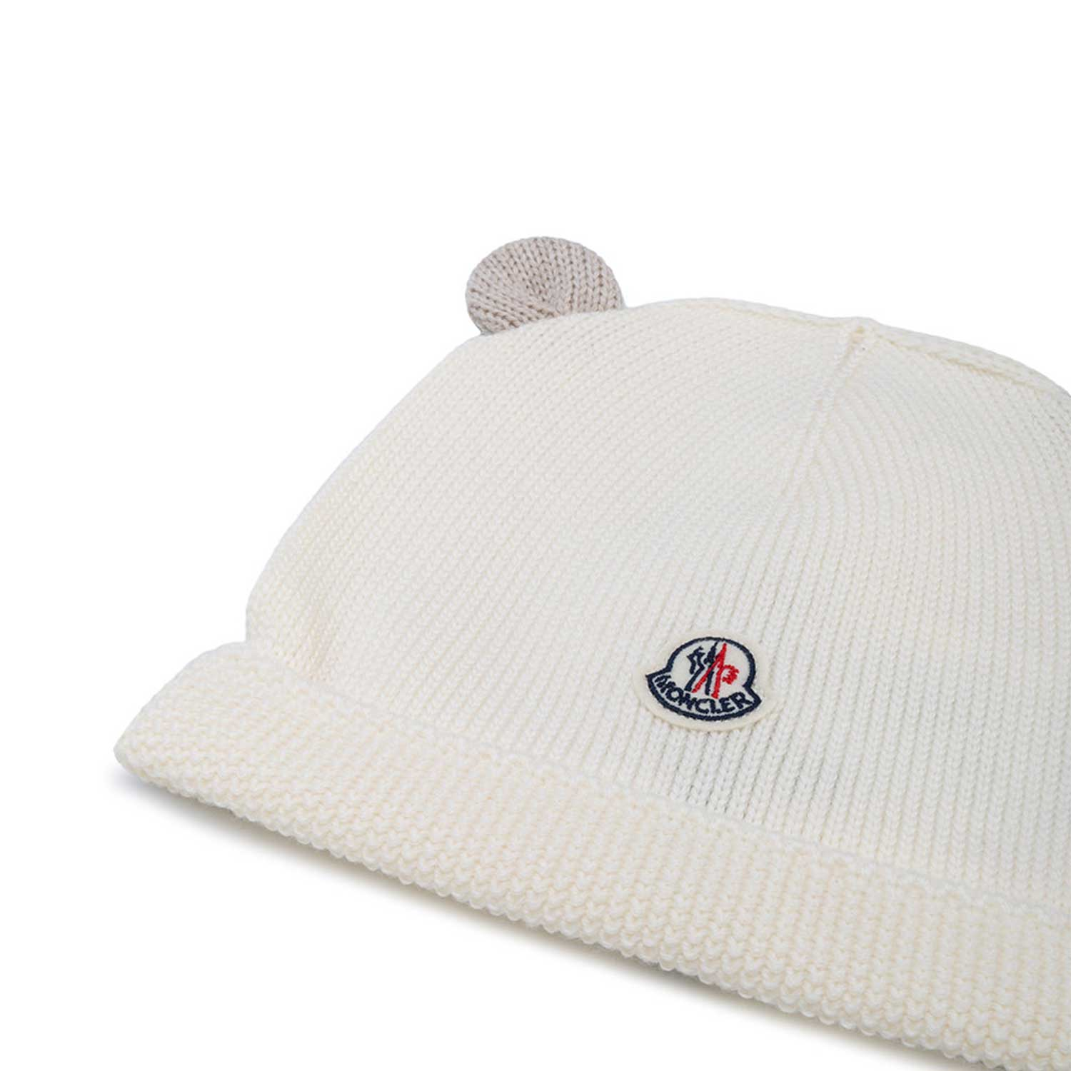 Moncler - White Bear Hat For Boys - annameglio.com shop online f0c81d3a33d