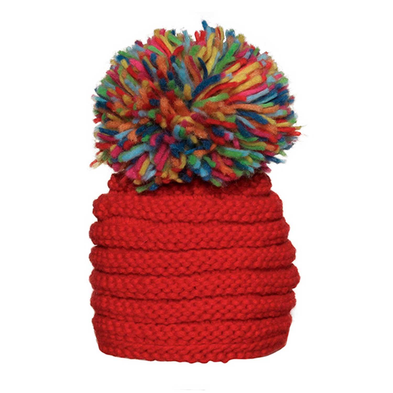 Grevi - Cappello Girl Rosso Maxi Pon Pon - annameglio.com shop online b0c08115b7b3
