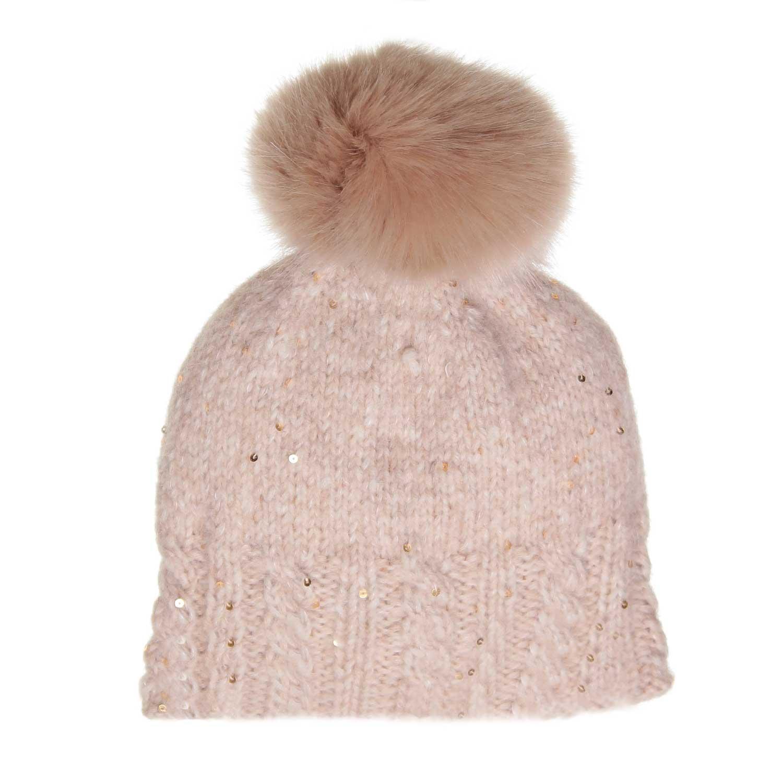 Grevi - Cappello Girl Beige Pon Pon - annameglio.com shop online 7be979e562e5