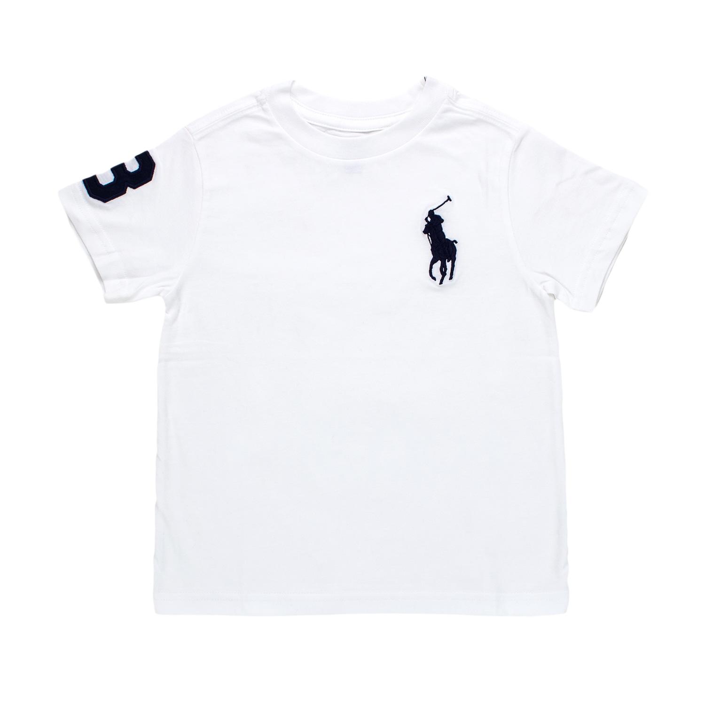 Jersey White Kids Crewneck Ralph Lauren T Cotton Shirt OymnPwNv80