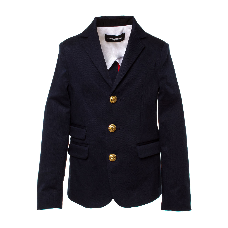 49e20ab77218e Dsquared2 - Blazer Boy Blu Navy Bottoni Oro - annameglio.com shop online