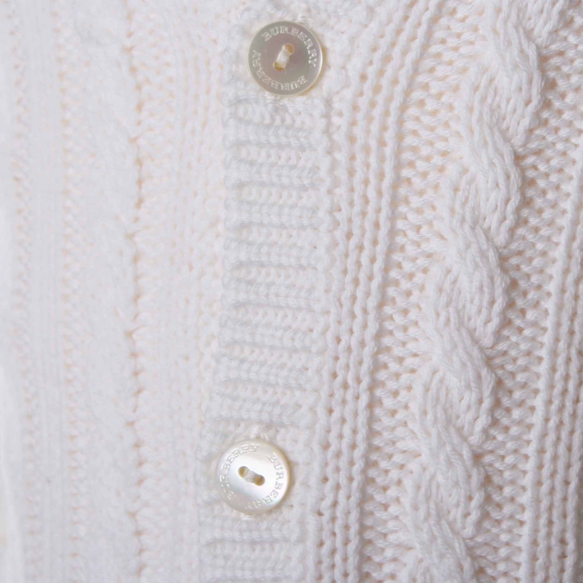 aebd5f9ac89f Cardigan Tema Trecce Bianco Panna