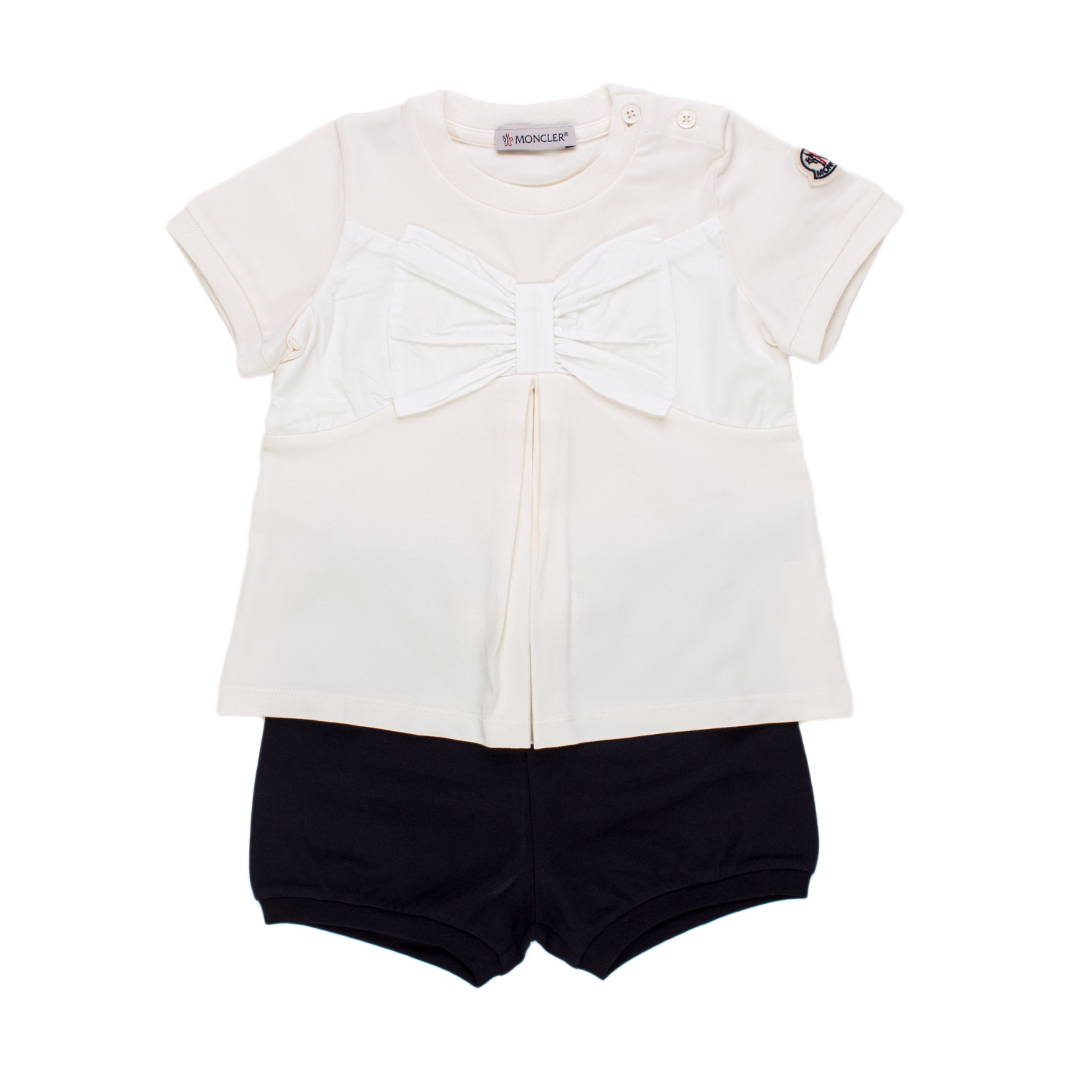 White And Blue Two Piece Set For Girls