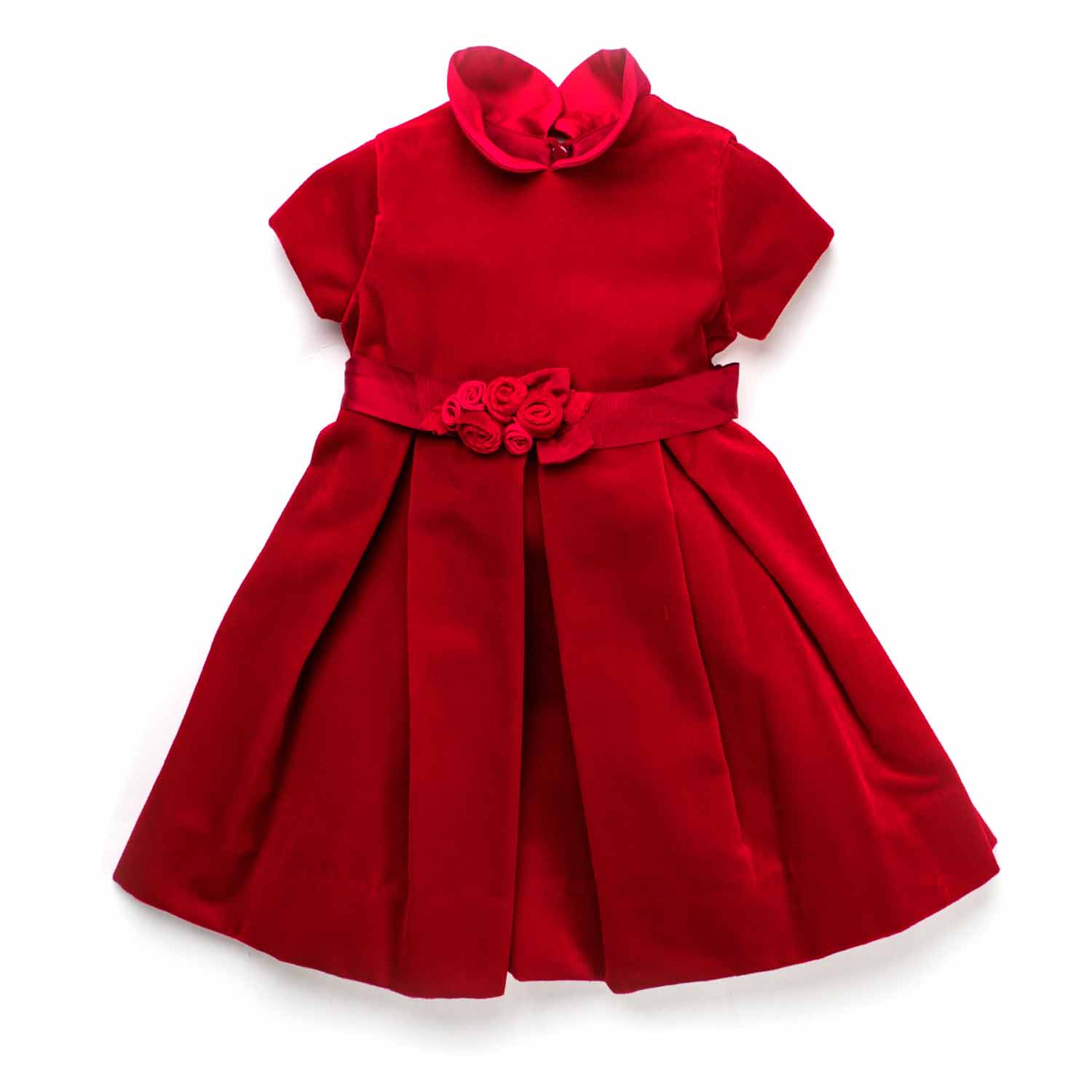 low priced a58a5 127d8 Abito Party Velluto Rosso