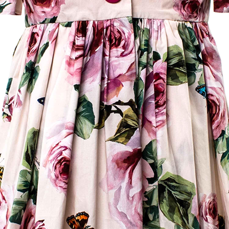 Rosa Abito Fiori Con Dolce Bambina shop Gabbana amp; gq8ExETwAt