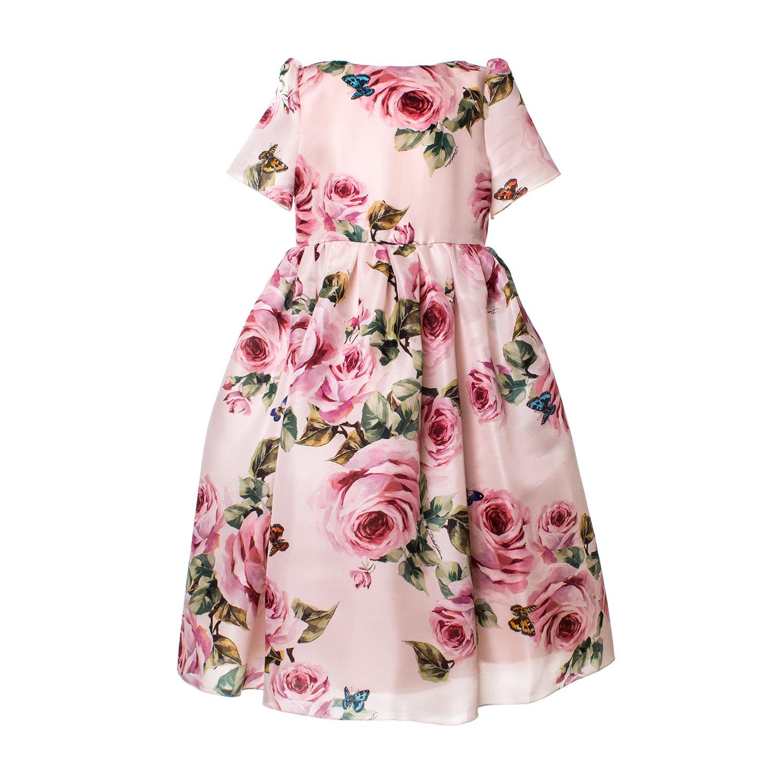 Dolce   Gabbana - Abito Seta Rosa Bambina - annameglio.com shop online 1894ac12e30