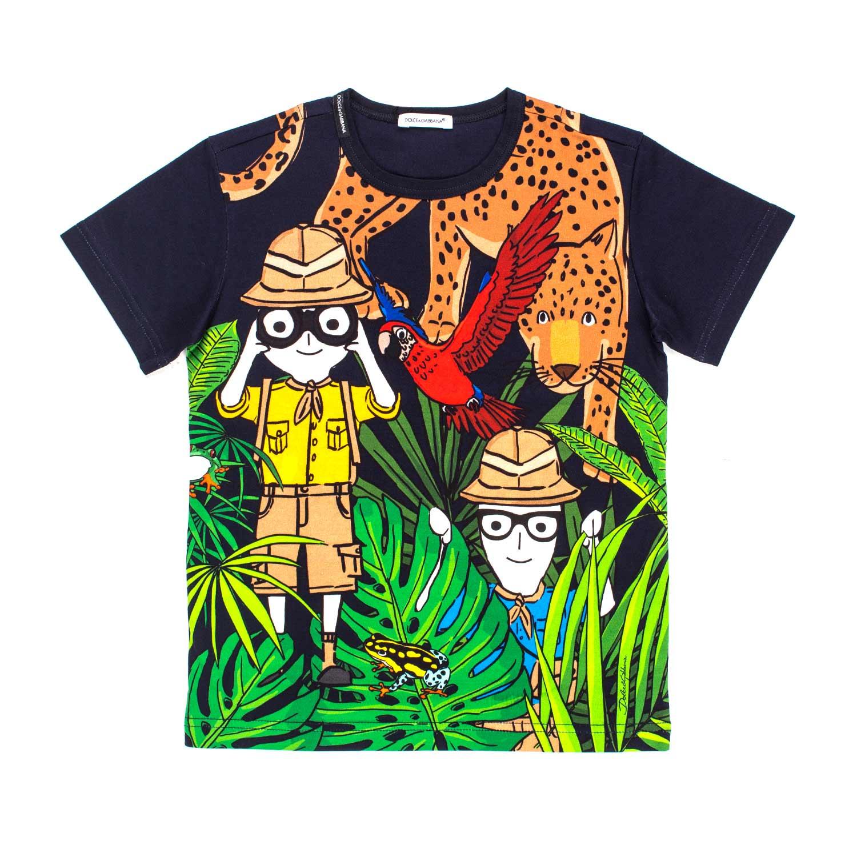 0e5ec73605a0c Dolce   Gabbana - T-Shirt Safari Blu Bambino - annameglio.com shop ...