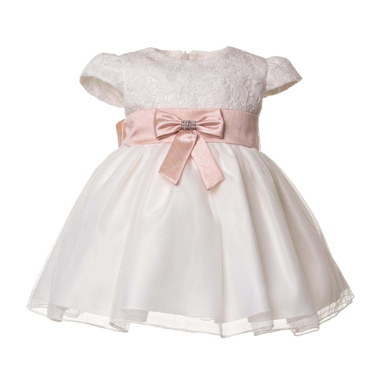 materiali di alta qualità nuovo prodotto carina Abito Battesimo Bianco Bimba Bebè 02