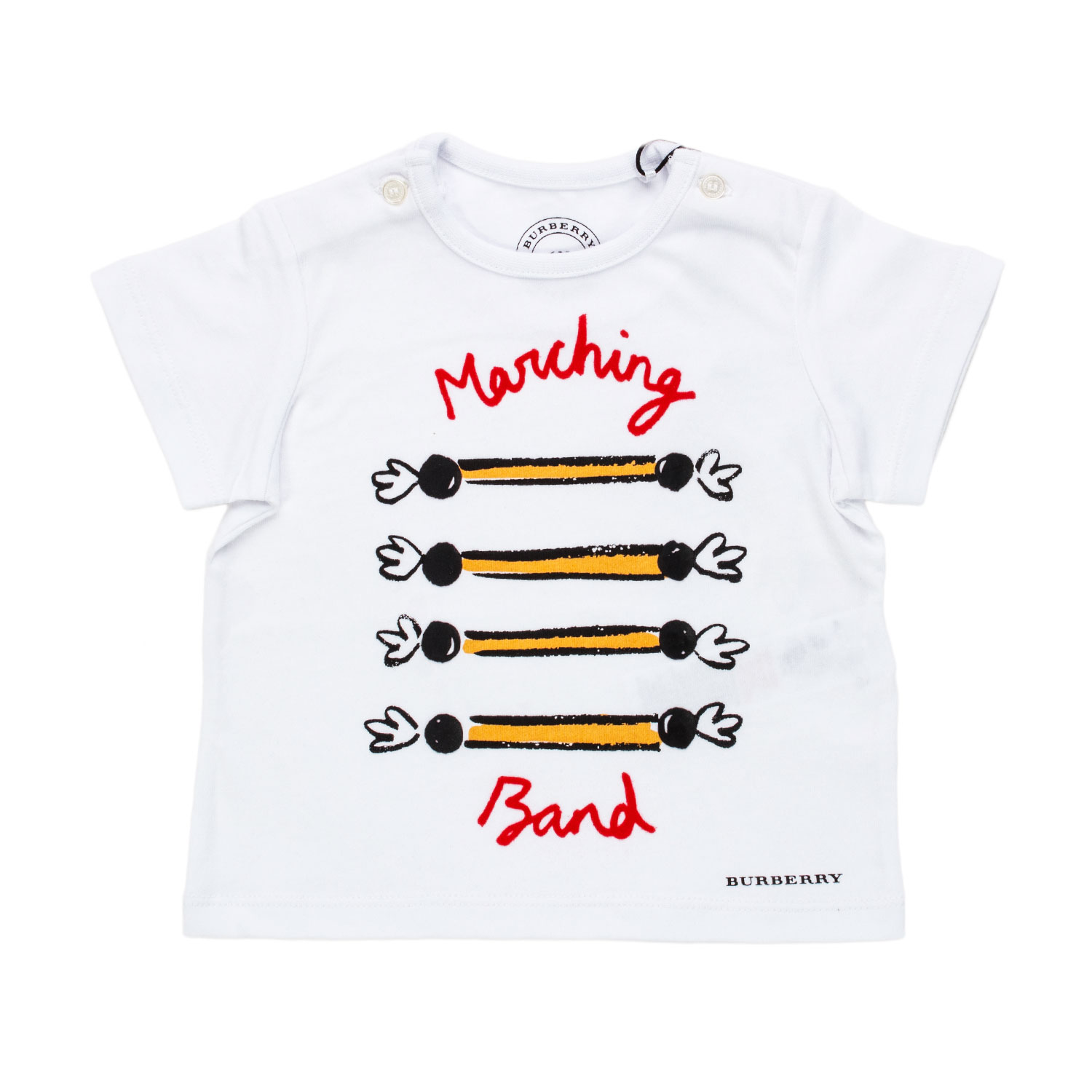 Burberry T Shirt Baby Marching Band Bianca annameglio shop