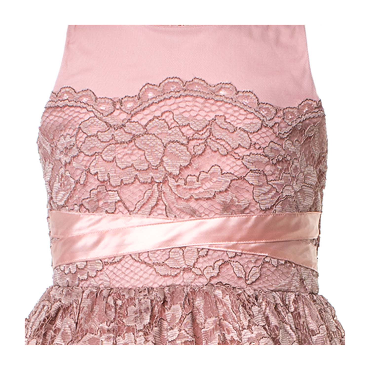 cheap for discount 641fd 0bb09 Abito Pizzo Rosa Bambina