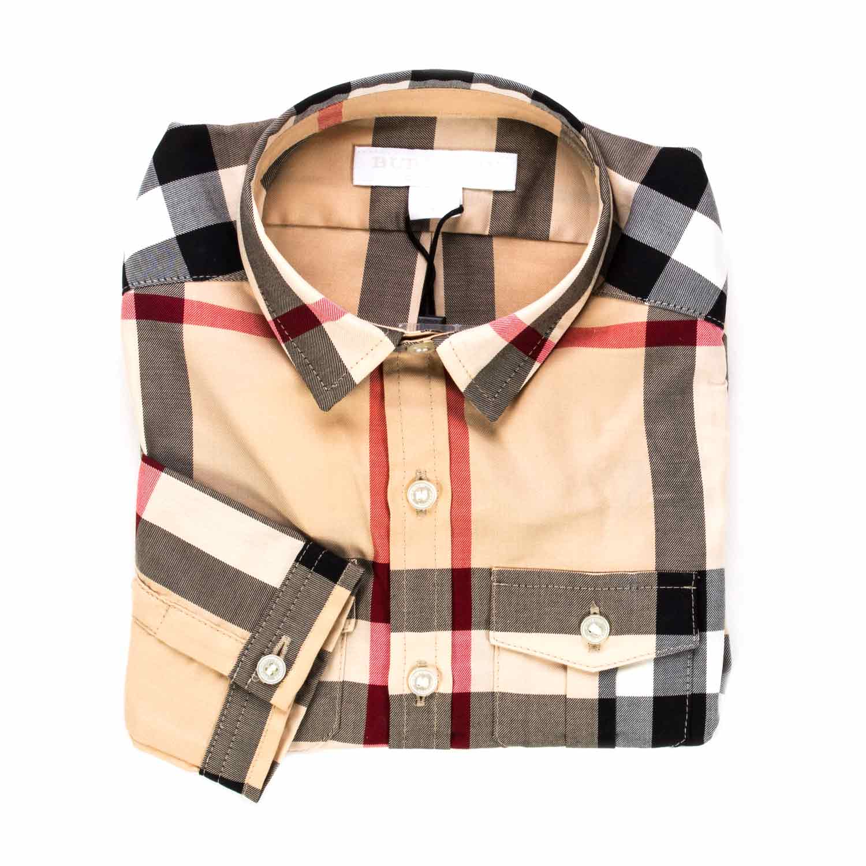 Burberry Camicia Check Beige Baby annameglio shop online