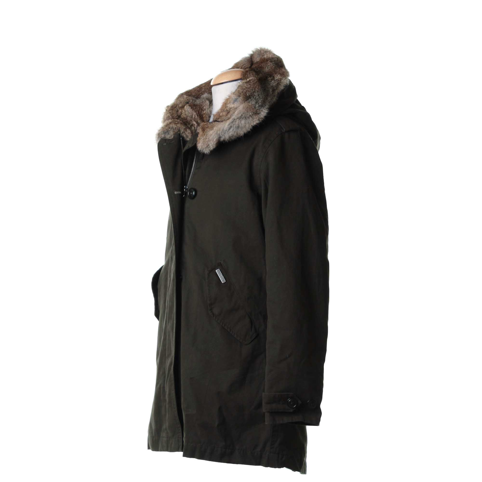woolrich banff eskimo parka fishtail verde scuro shop online. Black Bedroom Furniture Sets. Home Design Ideas