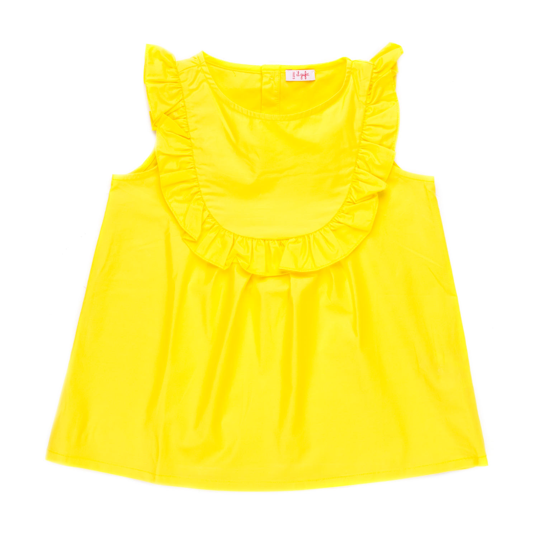 1069eac11577ab Il Gufo - Top Giallo Con Rouches Bambina - annameglio.com shop online