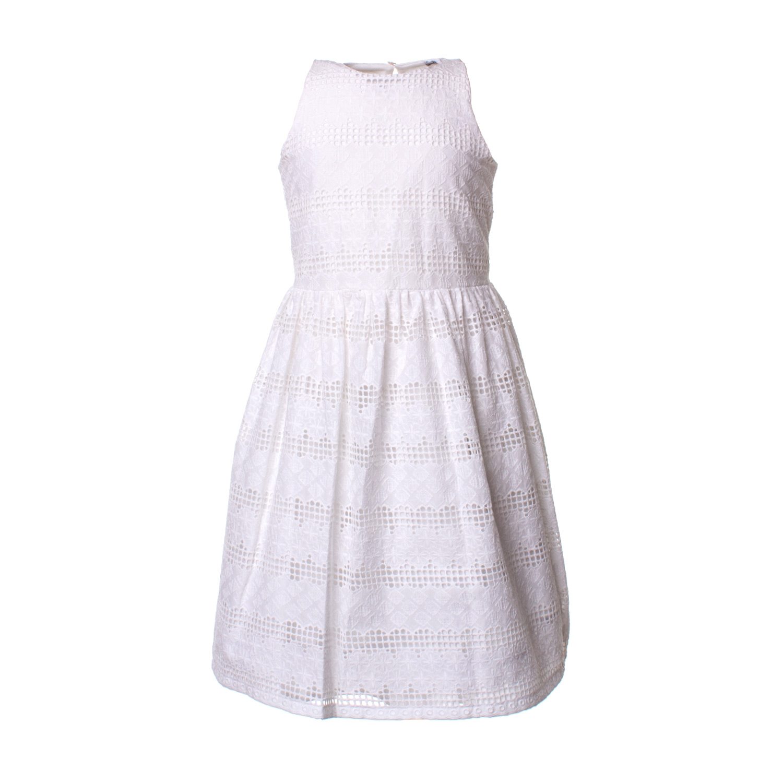 8c4dd231abe0 Abiti Cerimonia Bambina Bianco ~ Piccolaludo abito cerimonia bianco bambina