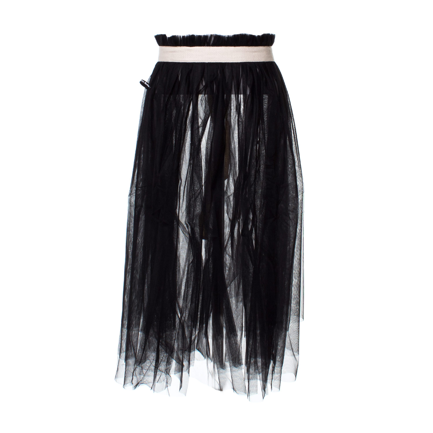 more photos 8d3ed b7610 Sottogonna Aperta In Tulle Nera Bambina Teen
