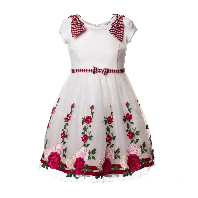 bello design genuino stile moderno Abito Cerimonia Bianco E Rosso Bambina