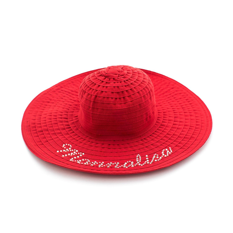 Monnalisa - Cappello Panama Rosso Bambina Baby - annameglio.com shop ... bf7a182a523e
