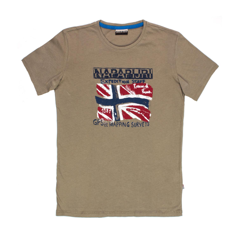 napapijri t shirt solex khaki bambino teen shop online. Black Bedroom Furniture Sets. Home Design Ideas