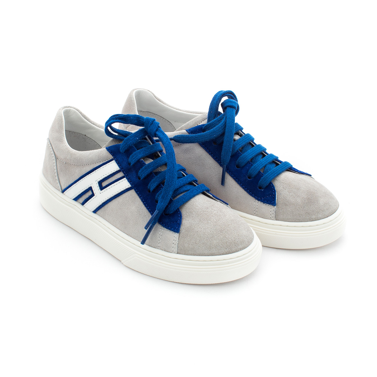 Scarpa Sneaker H365 Grigia E Blu Bambino Teen