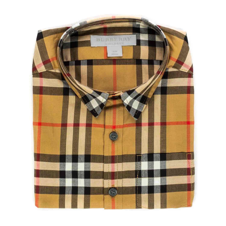 8c7ffea841ef Home · BURBERRY · T-shirts Polo neck Shirts  Vintage Check Shirt For Boys.  26065-burberry camicia check bambino teenager-1.jpg