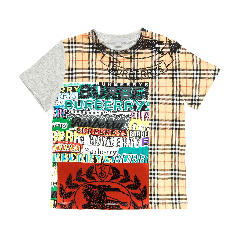 cheap for discount 67434 329be T-Shirt Check Con Logo Bambino
