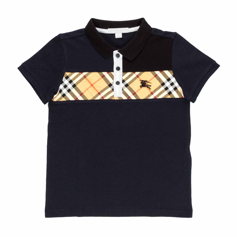 b37492a5b7 Burberry - Boy Check Panel Polo Shirt - annameglio.com shop online