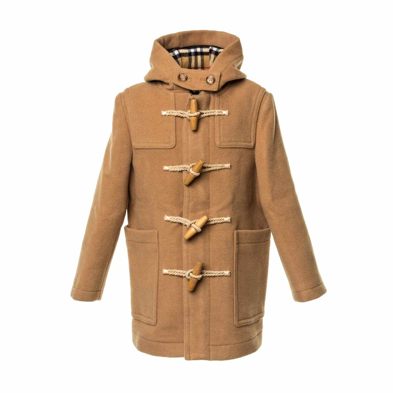 9cbe3b713 Boy Check Wool Duffle Coat
