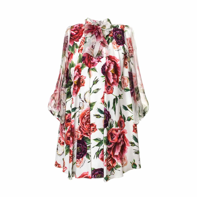 Dolce   Gabbana - Abito Peonie Bambina - annameglio.com shop online 49c3a682e09