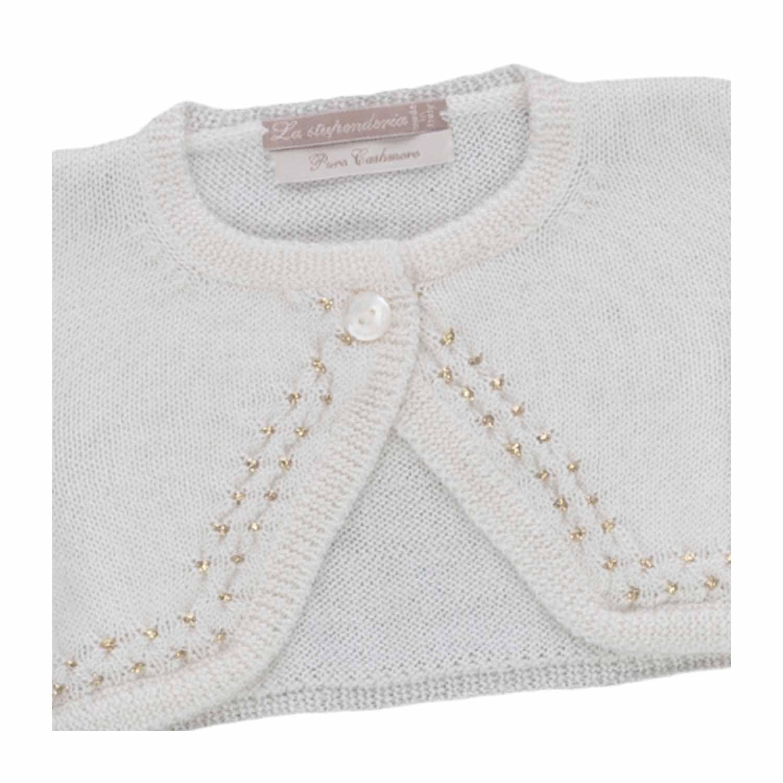 eb9346fce La Stupenderia - Baby Girl Cashmere Shrug - annameglio.com shop online