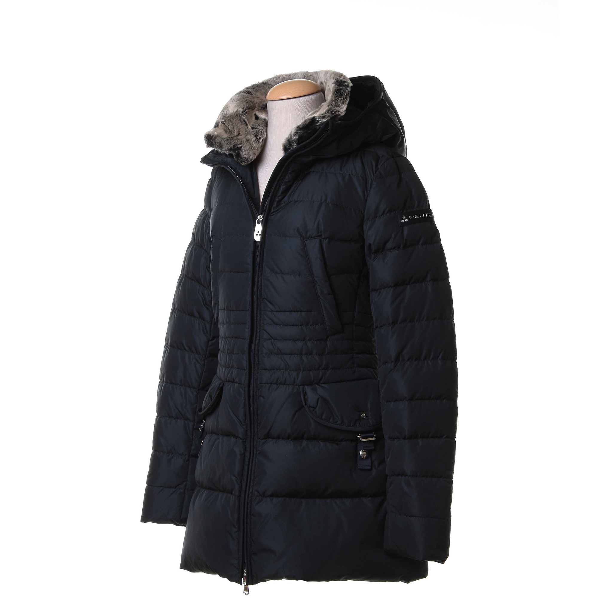 pretty nice 3ea0d 82c20 Long Quilted Down Jacket With Fur