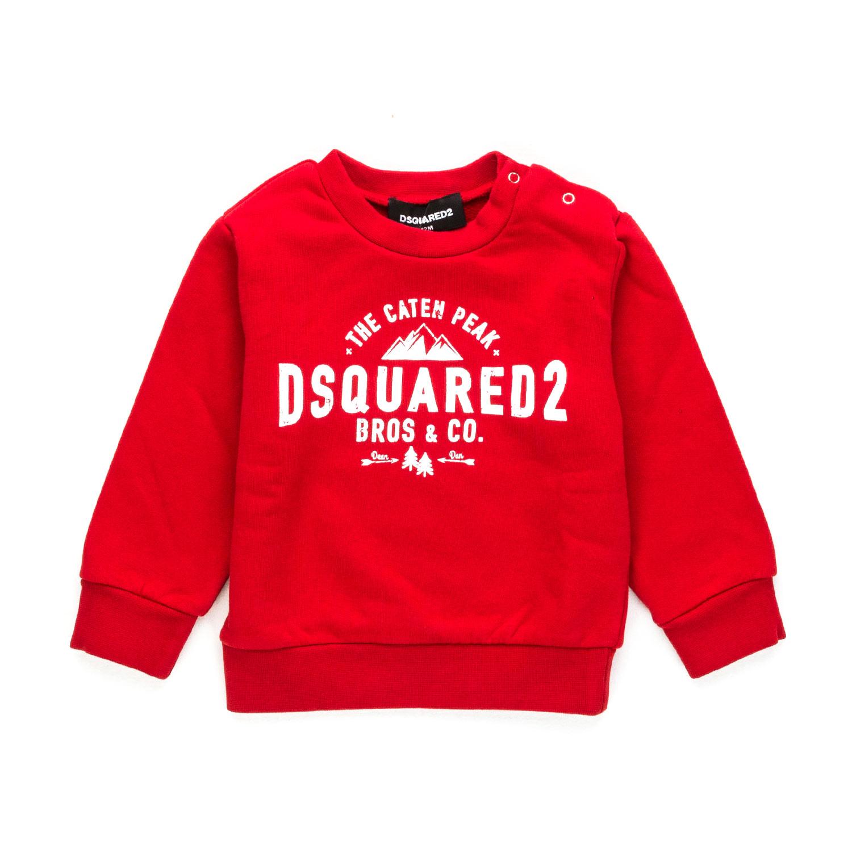 Dsquared2 - Felpa Rossa In Cotone Bambino - annameglio.com shop online f3b2811532f3