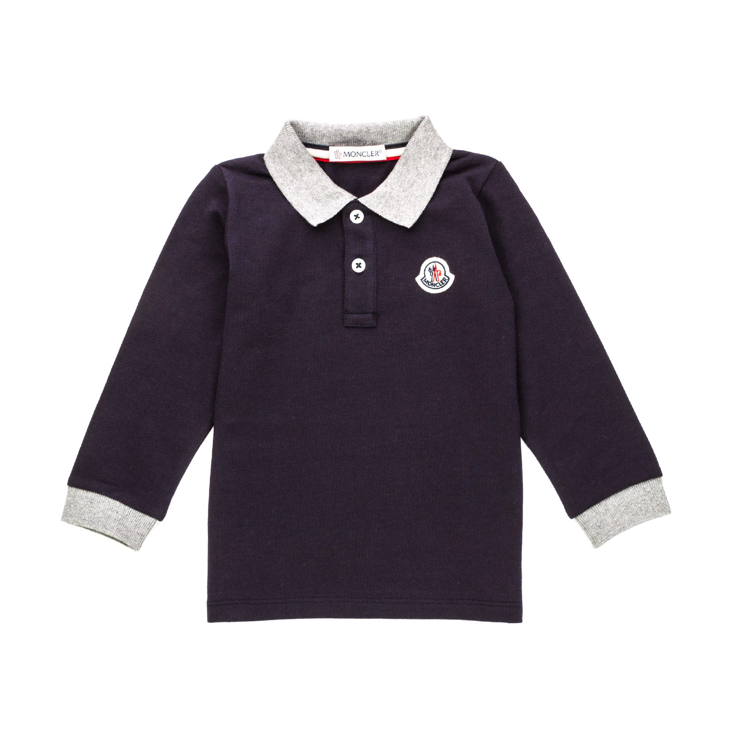 6ea45e40b Moncler - Baby Boy Long-Sleeved Polo Shirt - annameglio.com shop online
