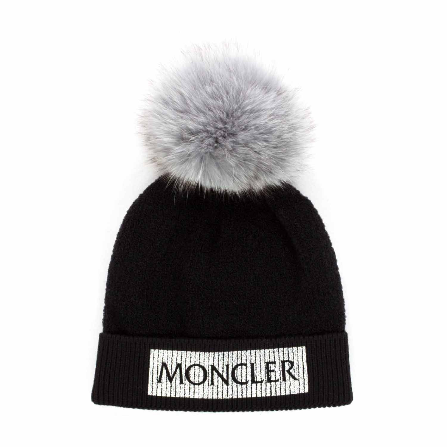 337893c5b7e9e Moncler - Cap With Fur Pon Pon For Girls - annameglio.com shop online