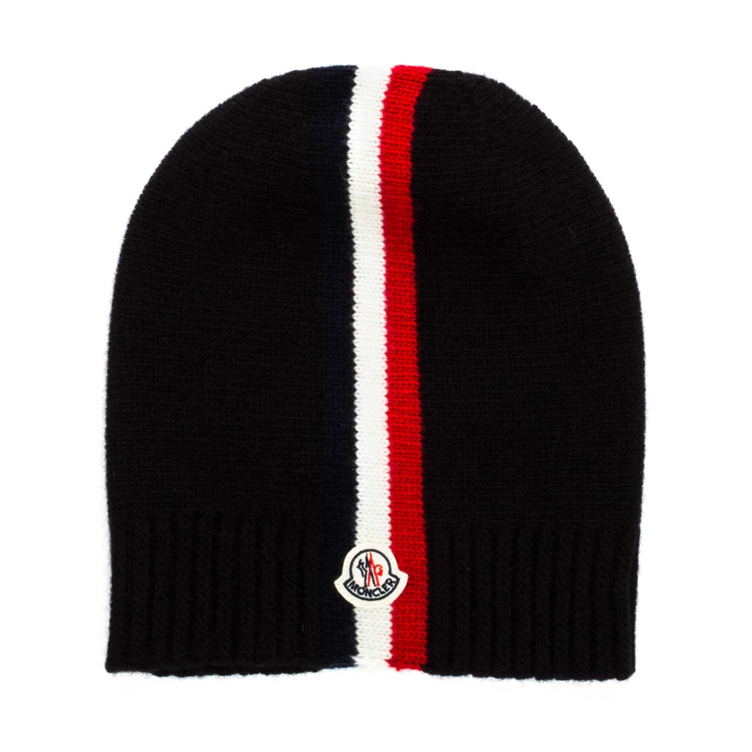 Home · MONCLER · Accessories hats headbands  Black Wool Hat For Boys.  26386-moncler cappello lana nero bambino-1.jpg 379bf60c851