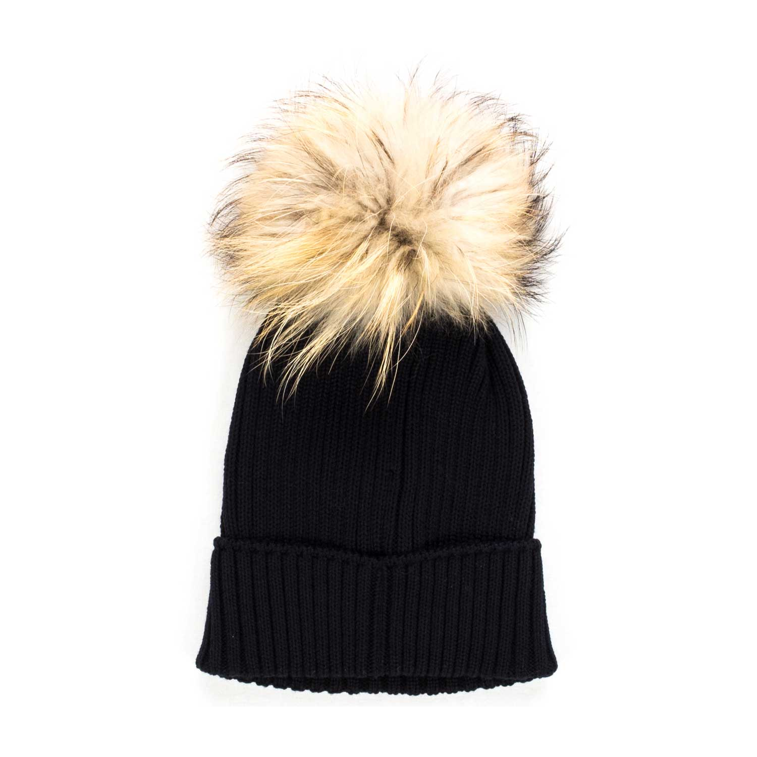Moncler - Girl Blue Knitted Bobble Hat - annameglio.com shop online 61904f855f11