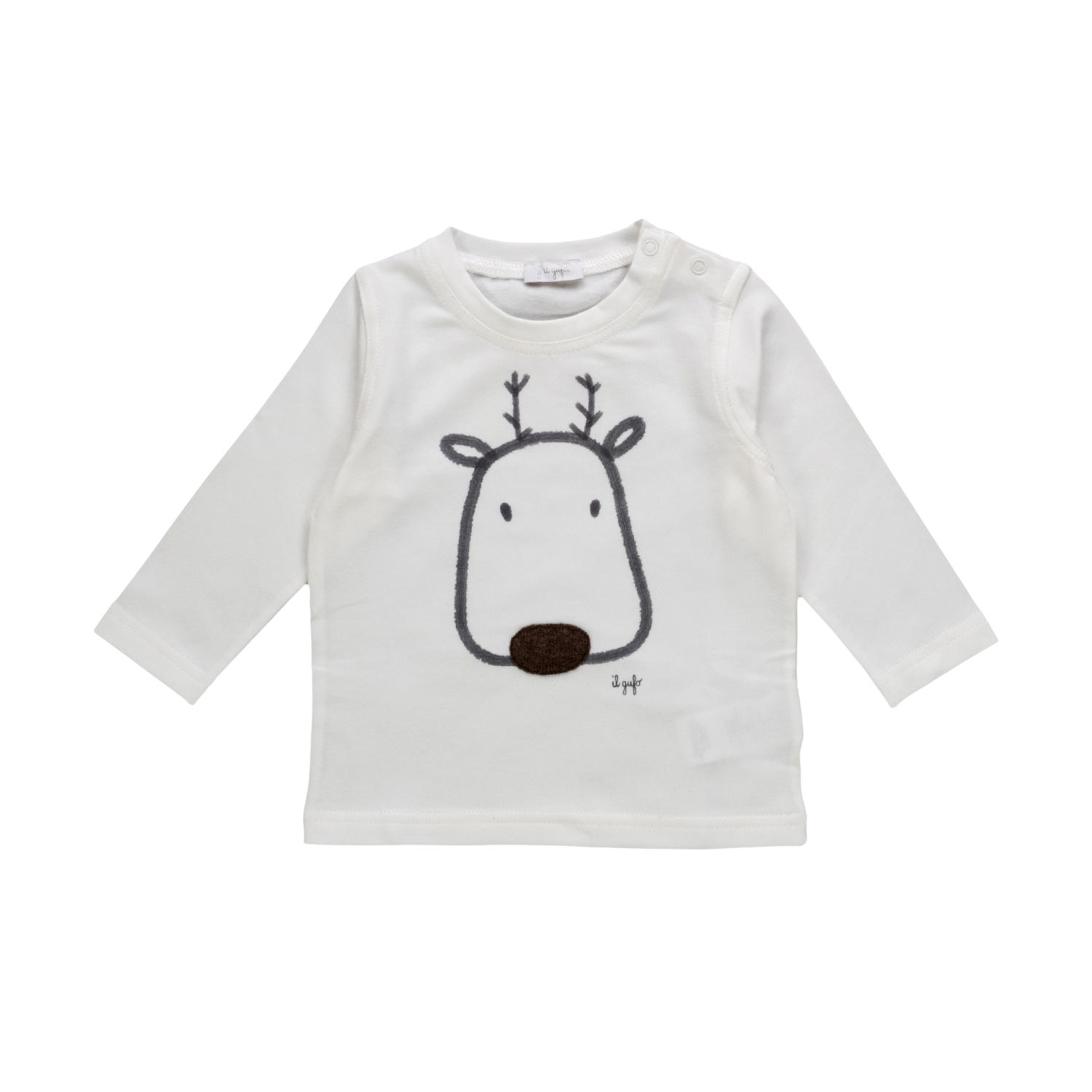 0a5ce2841 Il Gufo - Baby Boy T-Shirt With Reindeer - annameglio.com shop online