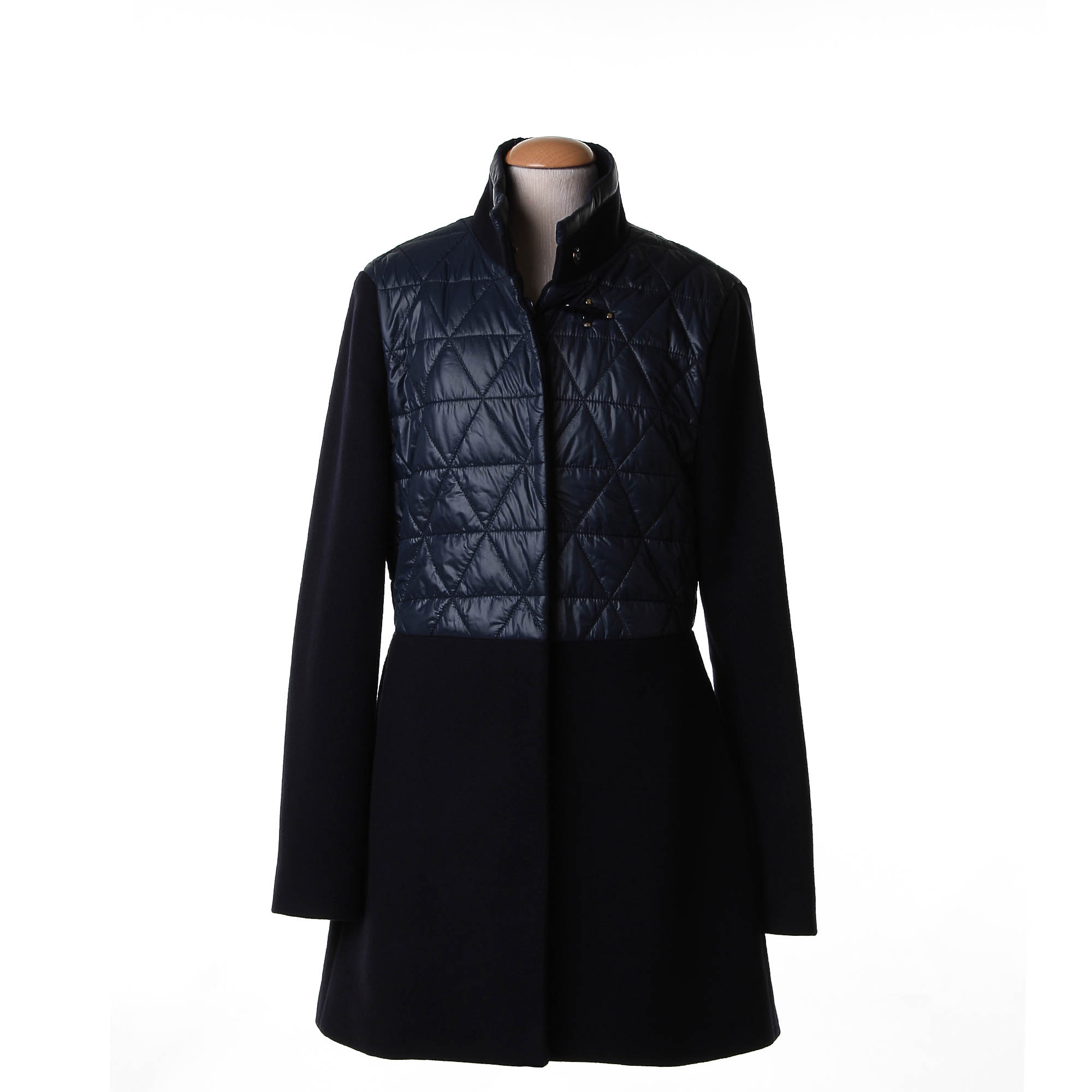 the latest f63f3 e849e Virginia Coat Misto Lana Piumino Blu