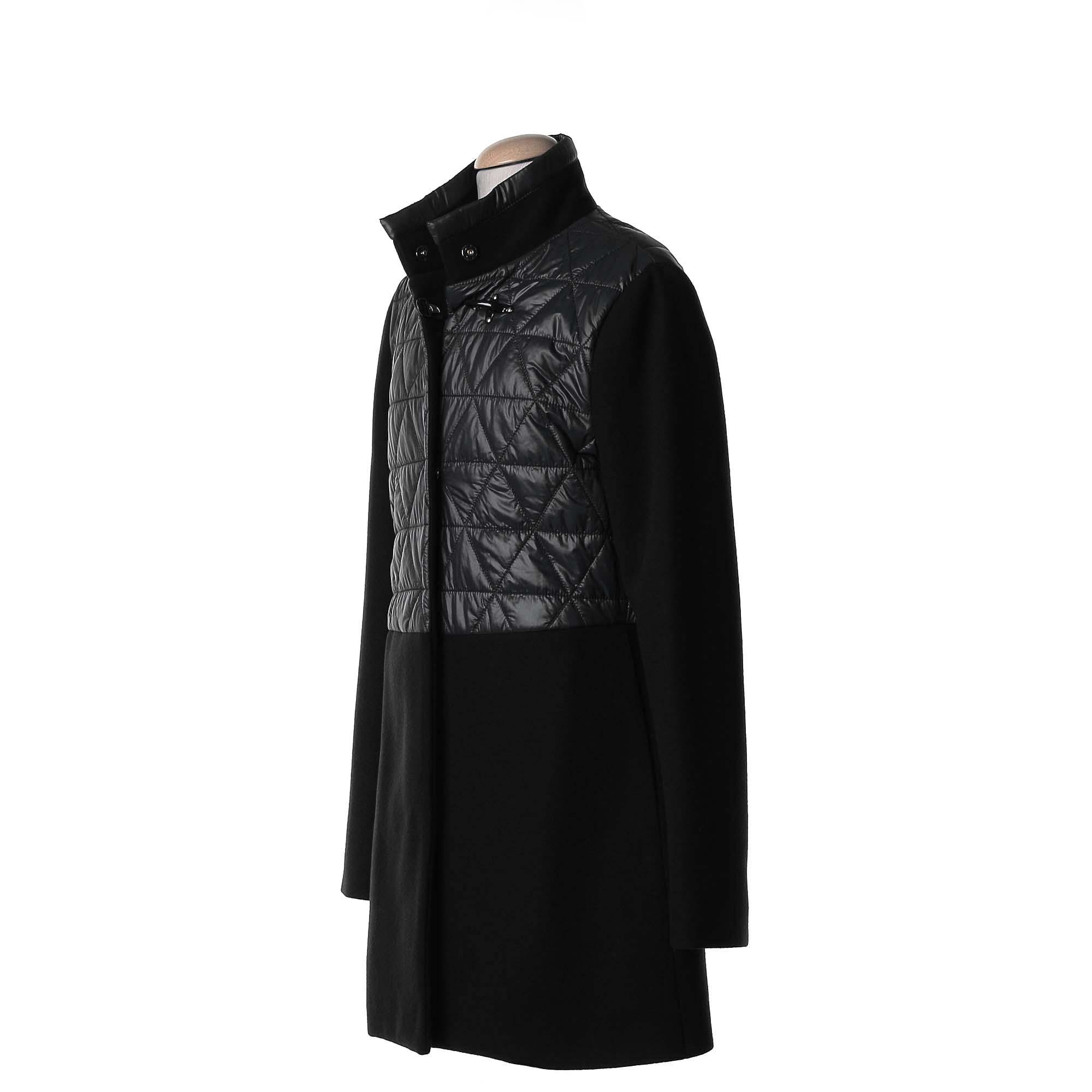 size 40 55d06 4134e Virginia Coat Misto Lana Piumino Nero