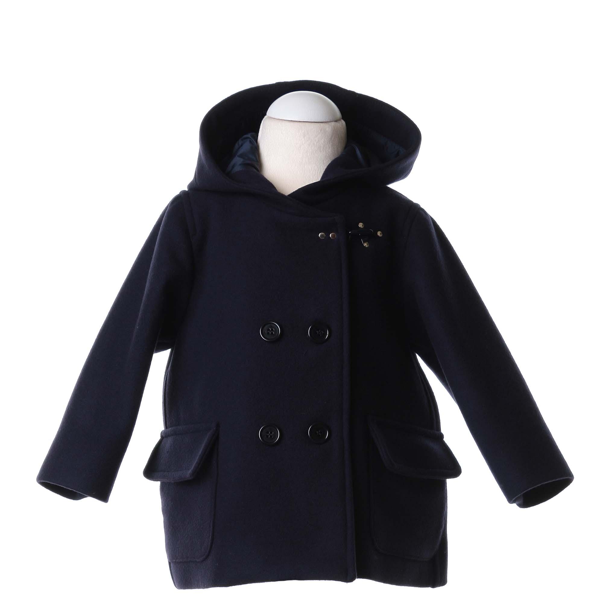 online store c72f0 0abd5 Cappottino Bimba In Panno Di Lana Blu