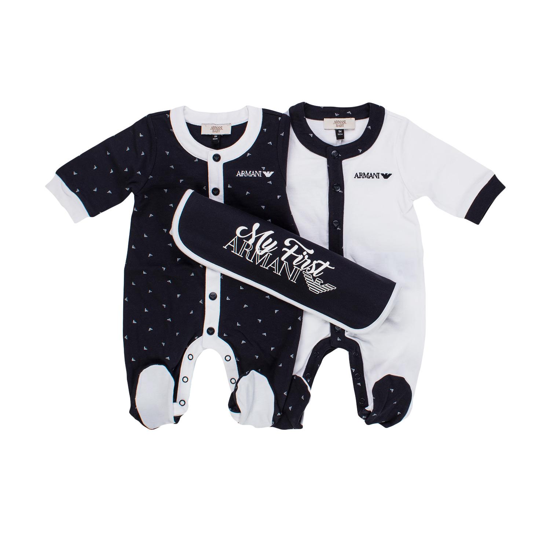 Home · ARMANI JUNIOR · Outfit- sets  Overalls Baby Set.  26751-armani junior set tutine neonato-1.jpg 9b6d387b8d0f5