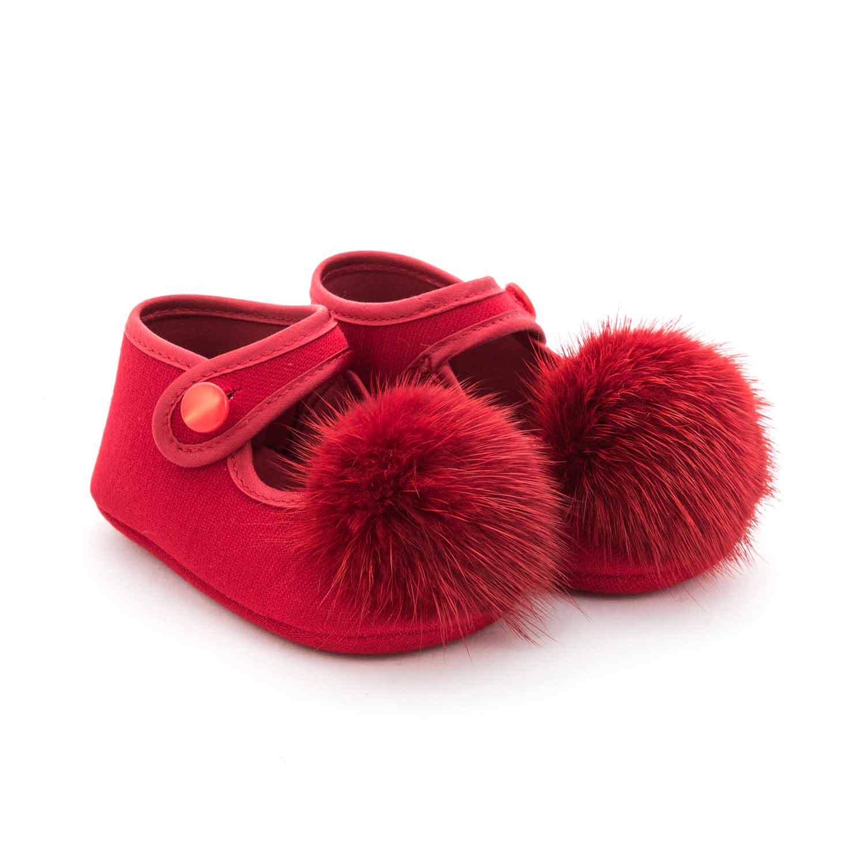 monnalisa scarpette rosse pompon neonata annameglio com shop online scarpette rosse pompon neonata