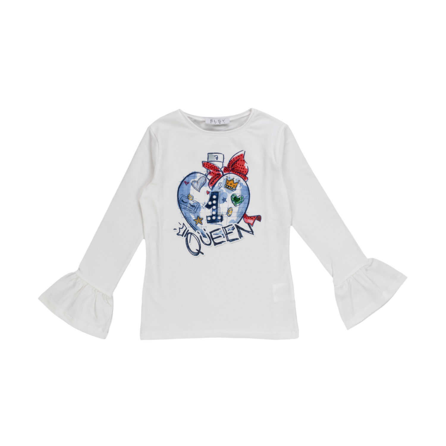 3cf95581e Elsy - White Top With Queen Design For Girls - annameglio.com shop ...