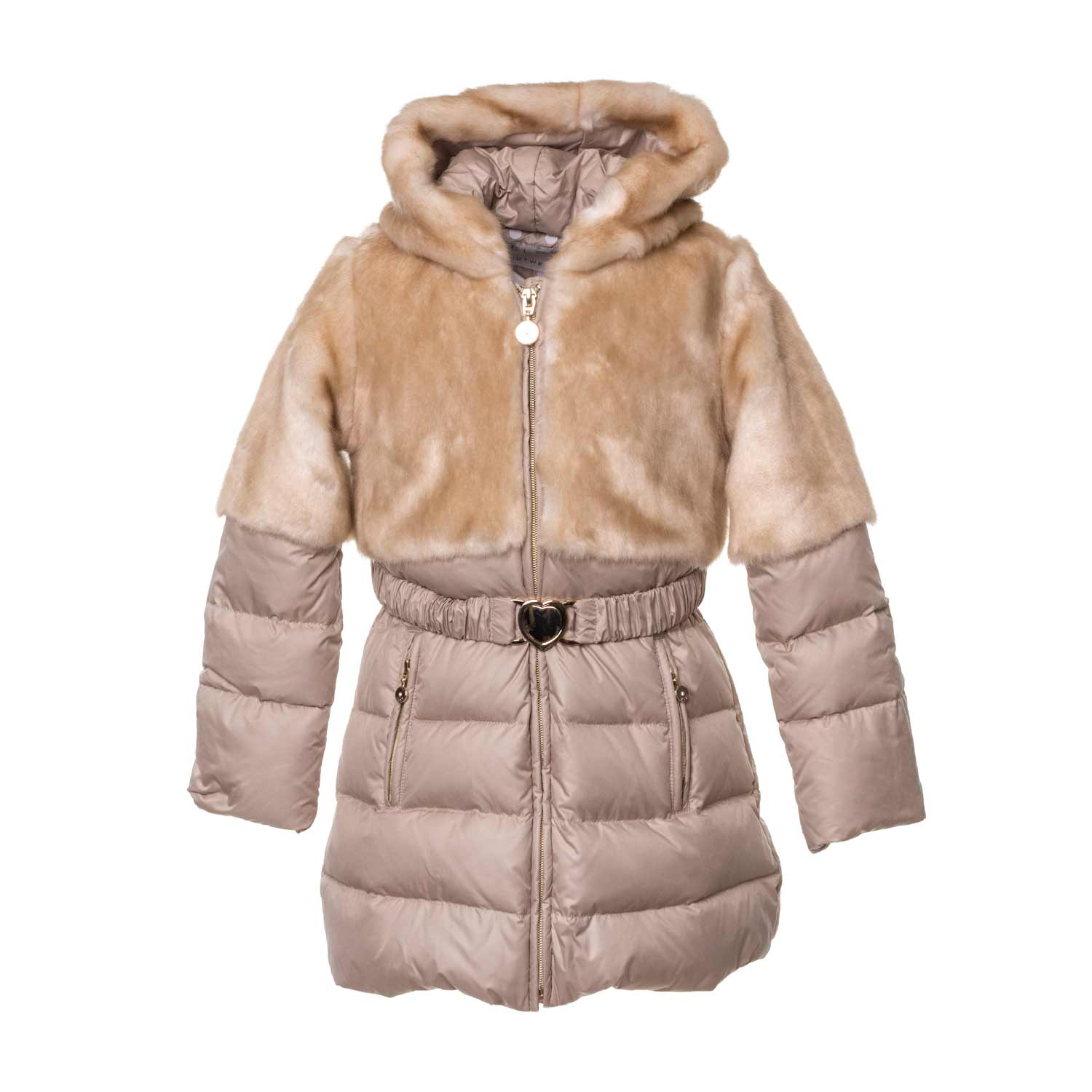 b41f40e9cd3f Elsy - Girl Faux Fur Down Coat - annameglio.com shop online